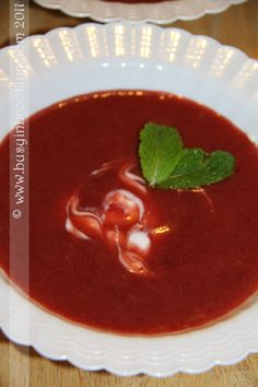 Strawberry Rhubarb Soup