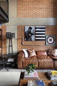 Interior Design and Home Decor Ideas Industrial Interior Design, New Interior Design, Brick Interior, Interior Walls, Industrial Style, Loft Design, House Design, Urban House, Loft Stil