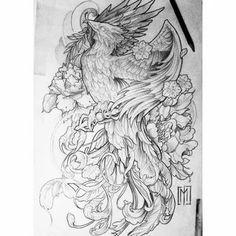 Tattoo Animal, Viking Tattoos, Sleeve Tattoos, Vikings, Phoenix, Tattoo Ideas, Arms, Drawings, Image