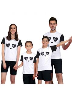 Dresswel Summer Matching Family Pajamas Sets Panda Printing Parent-Child  Outfit Family Pajama Sets 9dbecadc9