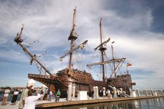 St. Augustine serves as the home port of the Spanish galleon, El Galeón (photo courtesy of Floridashistoriccoast.com)