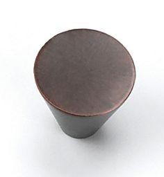 Laurey Cabinet Knobs, 1 Large Cone Knob- Venetian bronze