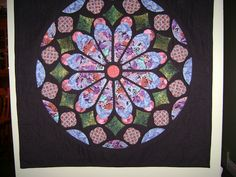A rose window quilt