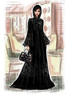 #HayaMagazine by @Shamekhbluwi| Be Inspirational ❥|Mz. Manerz: Being well dressed is a beautiful form of confidence, happiness & politeness Arab Fashion, Fashion Art, Fashion Show, Autumn Fashion, Womens Fashion, Dress Design Sketches, Fashion Design Sketches, Different Types Of Dresses, Fashion Sketchbook
