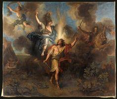 """""""Départ d'Achille pour venger la mort de Patrocle"""" de Charles-Antoine Coypel (1694-1752). Paris, musée du Louvre - Photo (C) RMN-Grand Palais (musée du Louvre) / Jean-Gilles Berizzi"""
