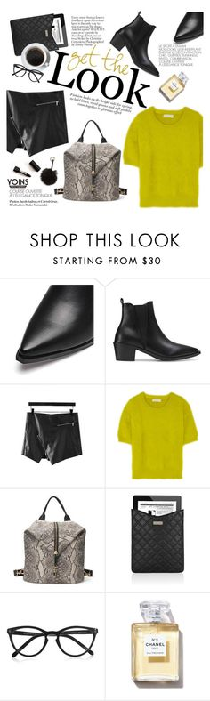 """""""Get the look"""" by punnky ❤ liked on Polyvore featuring Cuero, MICHAEL Michael Kors, Marc Jacobs, Selima Optique, Chanel and Nila Anthony"""