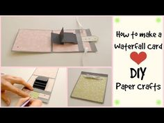 30 Marvelous Photo of Scrapbook Crafts Ideas . Scrapbook Crafts Ideas How To Make A Waterfall Card Diy Crafts Scrapbooking Tutorial Diy Washi Tape Crafts, Easy Paper Crafts, Card Crafts, Paper Crafting, Exploding Box For Boyfriend, Diy Exploding Box, Diy Crafts For Boyfriend, Waterfall Cards, Handmade Birthday Gifts