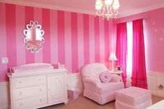 Cute Design For Girls Baby Rooms With Pink Curtains ~ http://lanewstalk.com/some-ideas-of-baby-girls-room-designs/