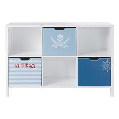 Cabinet bibliothèque enfant Pirate