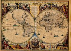 Ancient World Maps: World Map 17th Century