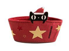 Yellow Cat, Red Cat, Starbucks Merchandise, Cup Sleeve, Baby Shoes, Santa, Stars, Ebay, Black