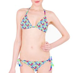 Rainbow Rose Bikini Set   Made from 83% Polyester, 17% Lycra Available in XS, S, M, L, XL,2XL and 3XL