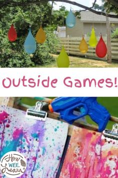 Get the kids outside and playing this summer with these ridiculously fun outdoor games for kids. Perfect to use as backyard games or games at the park, or even for an outdoor birthday party! Outdoor Games For Preschoolers, Creative Activities For Kids, Preschool Games, Kids Learning Activities, Summer Activities, Crafts For Kids, Free Activities, Kindergarten Activities, Summer Crafts