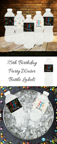 Perfect Happy 75th Birthday Party Decoration!  Quick and easy assembly-just peel, wrap and stick-no tape required.