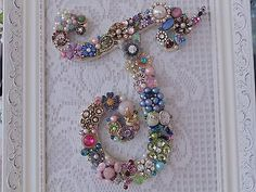Details about Cottage Shabby Vintage Jewelry Framed Christmas Tree ~INITIAL E ~ Letter Cottage Shabby Vintage Jewelry gerahmter Weihnachtsbaum ~ INITIAL E ~ Letter Costume Jewelry Crafts, Vintage Jewelry Crafts, Antique Jewelry, Silver Jewelry, Vintage Jewellery, Emerald Jewelry, Vintage Jewelry Displays, Gemstone Jewelry, Tanzanite Jewelry
