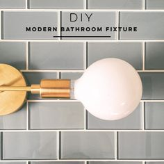 We are knee deep in bathroom makeover madness, but I had to share our latest lighting DIY with all of you. A modern bathroom fixture can be hard to come by unless you're willing to fork out some serious cash, so we decided to make our own (surprise, surprise!). In case you missed any of [...]