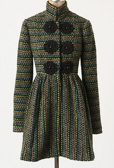 Anthropologie wool coat with huge buttons. Awesomeness