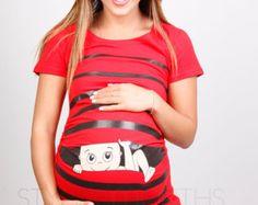 Ähnliche Artikel wie Schwangerschaft Kleidung, komische Mutterschaft Hemd, Maternity Clothes, Baby es draußen kalt ist, Peekaboo, Peek-a-Boo, einsehen ein Boo Baby spähen auf Etsy