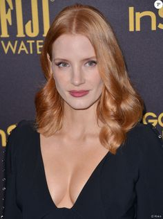 Jessica Chastain lors de la soirée Hollywood Foreign Press Association and InStyle Celebration of The 2017 Golden Globe Award Season, à West Hollywood, Los Angeles, le 10 novembre 2016.