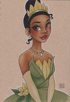 Princess Tiana by GenevieveKay.deviantart.com on @DeviantArt