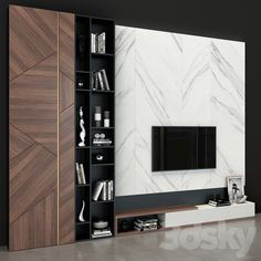 3d models: TV Wall - TV Wall set 46 Feature Wall Living Room, Living Room Bench, Living Rooms, Modern Tv Cabinet, Modern Tv Wall, Home Library Design, Home Interior Design, Ikea Tv Wall Unit, Wall Units
