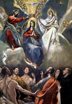 GLORIOUS MYSTERY - 5. The crowning of Mary as Queen of Heaven and Earth. El Greco, 1591. Madrid, Prado