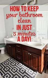 How to keep your bathroom clean in 5 minutes a day | TidyMom