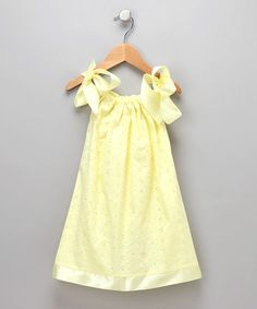 The yellow is so cheerful! :) Cozy Bug Yellow Eyelet Swing Dress - Infant, Toddler & Girls by Cozy Bug #zulilyfinds
