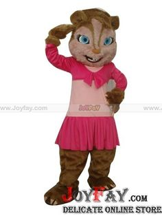 Deluxe Chipmunk Squirrel in Pink Dress Mascot Costume fursuit http://www.joyfay.com/us/children-adult-size-deluxe-long-plush-chipmunk-squirrel-in-pink-dress-mascot-costume-fur-suit.html