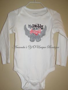My Daddy Is My Angel Embroidered Shirt by AYBoutique on Etsy, $22.00