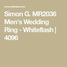 Simon G. MR2036 Men's Wedding Ring - Whiteflash | 4096