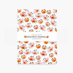 Notebook journal diary crab A6 stationery carnet by SoniaCavallini