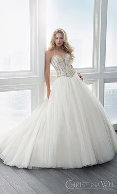 Wedding Dress Trends for 2017 - Part 1: Split Sweetheart Neckline with Illusion Insert