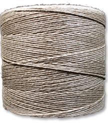 A medium thickness, 6-strand natural hemp yarn for craft, beading or utility use.  This thick yarn consists of 6 individual strands of natural hemp yarn twisted together to form and strong and uniform yarn - perfect for macarame, weaving or crochet projects.  These 1 lb. spools of natural hemp yarn contain approximately 2,730 feet of yarn each.