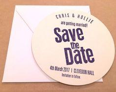 letterpress wedding save the date coaster