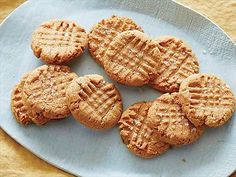 No-Flour Peanut Butter Cookies : Chewy no-flour cookies are free of gluten, full of peanut-buttery flavor.