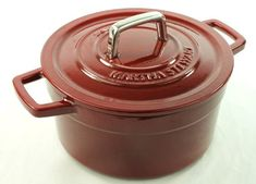 Red Cranberry Enameled Cast Iron 3 Qt Round Dutch Oven Casserole >>> Be sure to check out this awesome product.
