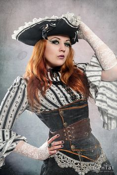 This idea for a corset looks way easy to make, and super stylish, too! Might try to DIY it.