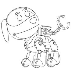 paw patrol robo dog coloring page