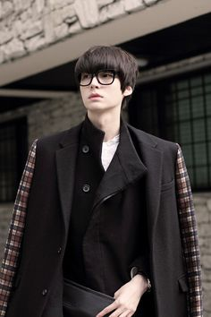 Coat + glasses | ahn jae hyun