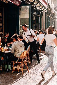 Street Photography, Travel Photography, Waiter Uniform, Bamford, Bicycle Girl, Bastille, Melbourne Australia, Paris Street, Paris Travel