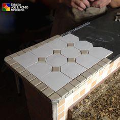 Mosaico marroquino em balcão
