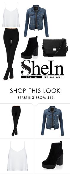 """""""Black Slim Elastic Leggings"""" by skofild ❤ liked on Polyvore featuring LE3NO, Alice + Olivia and Aspinal of London"""