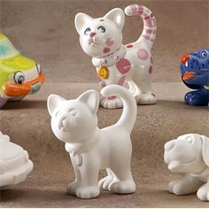 GARE BISQUE CAT PARTY ANIMAN - Ceramic Arts