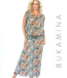 Maxi dress in soft paisley - feminine boho- www.getthis.co.za