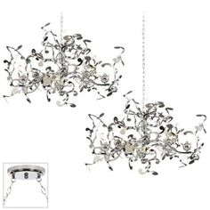 Possini Euro Curly Ribbon Chrome Double Swag Chandelier