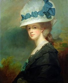 Mrs. Musters, 1779-80.  artist:  George Romney (26 December 1734 – 15 November 1802) was an English portrait painter. He was the most fashionable artist of his day, painting many leading society figures - including his artistic muse, Emma Hamilton, mistress of Lord Nelson
