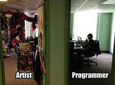 Artist vs Programmer #art #artist #program #programming #programs #programmer #programmers #fuck #code #coding #coder #fun #funny #html #html5 #css #css3 #js #javascript #java #php #c #cplusplus #csharp ##visualstudio
