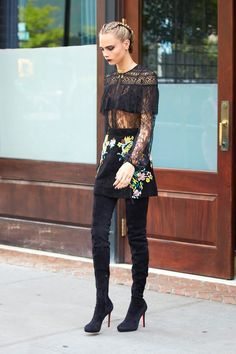 Two Ways To Wear Lace If You're Not A Girly Girl