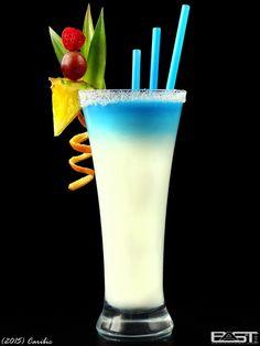 Caribic Jun 12, 2015 Curacao Blue Malibu Vanilla ice cream Milk Sugar sirup Mix Malibu, vanilla ice cream, milk and sugar syrup. Pour into a glass and carefully refill curacao. ____________________...